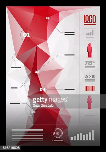 Polygonal infographic design template : Vector Art