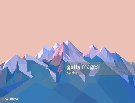 多角形の山々 : ベクトルアート