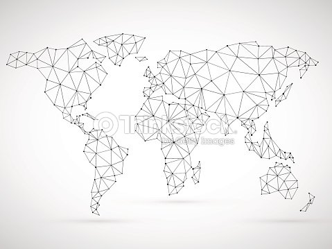 Polygonal world map vector art thinkstock polygonal world map vector art gumiabroncs Gallery
