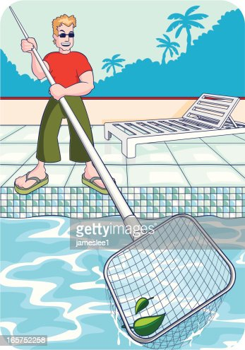 Swimming Pool Chairs Cartoon Stock Illustrations And