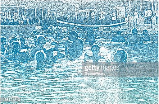 Pool Party Fun : Clipart vectoriel