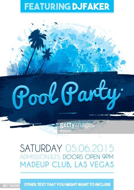 Uitnodiging poster zwembad