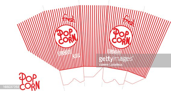 Popcorn vector art and graphics getty images for Popcorn container template
