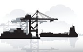 Port & Ship is a vector illustration.
