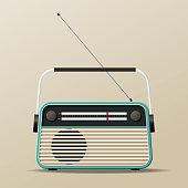 Portable Vintage Radio Receiver