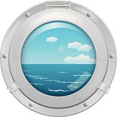 Porthole with sea view