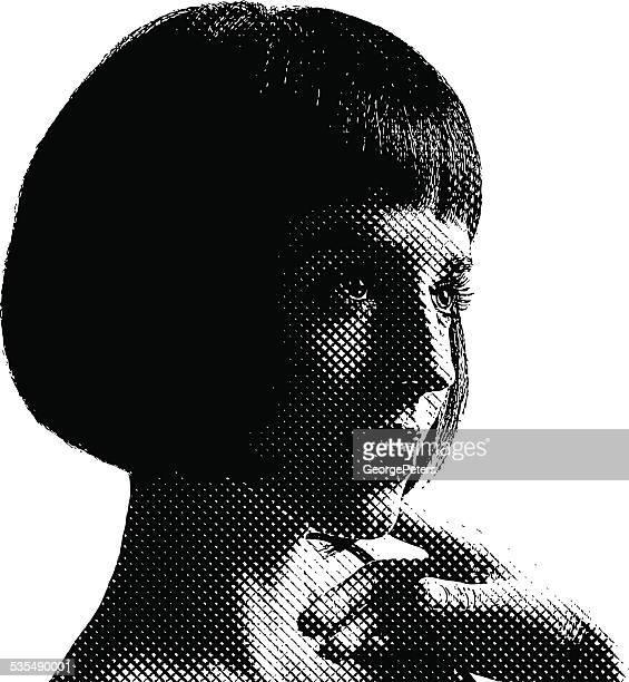Porträt einer süßen Frau