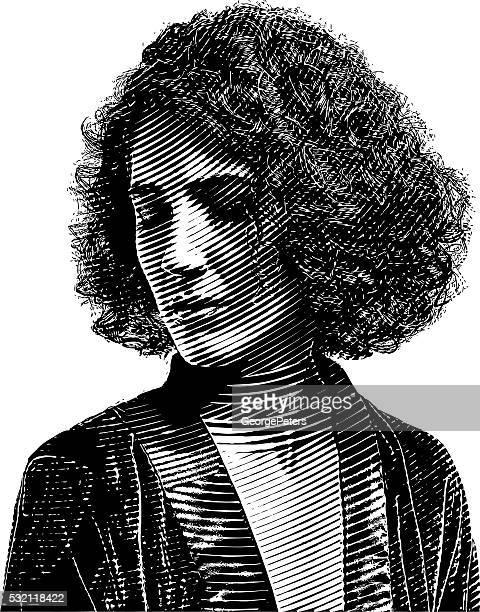 Porträt einer nachdenklich junge Frau