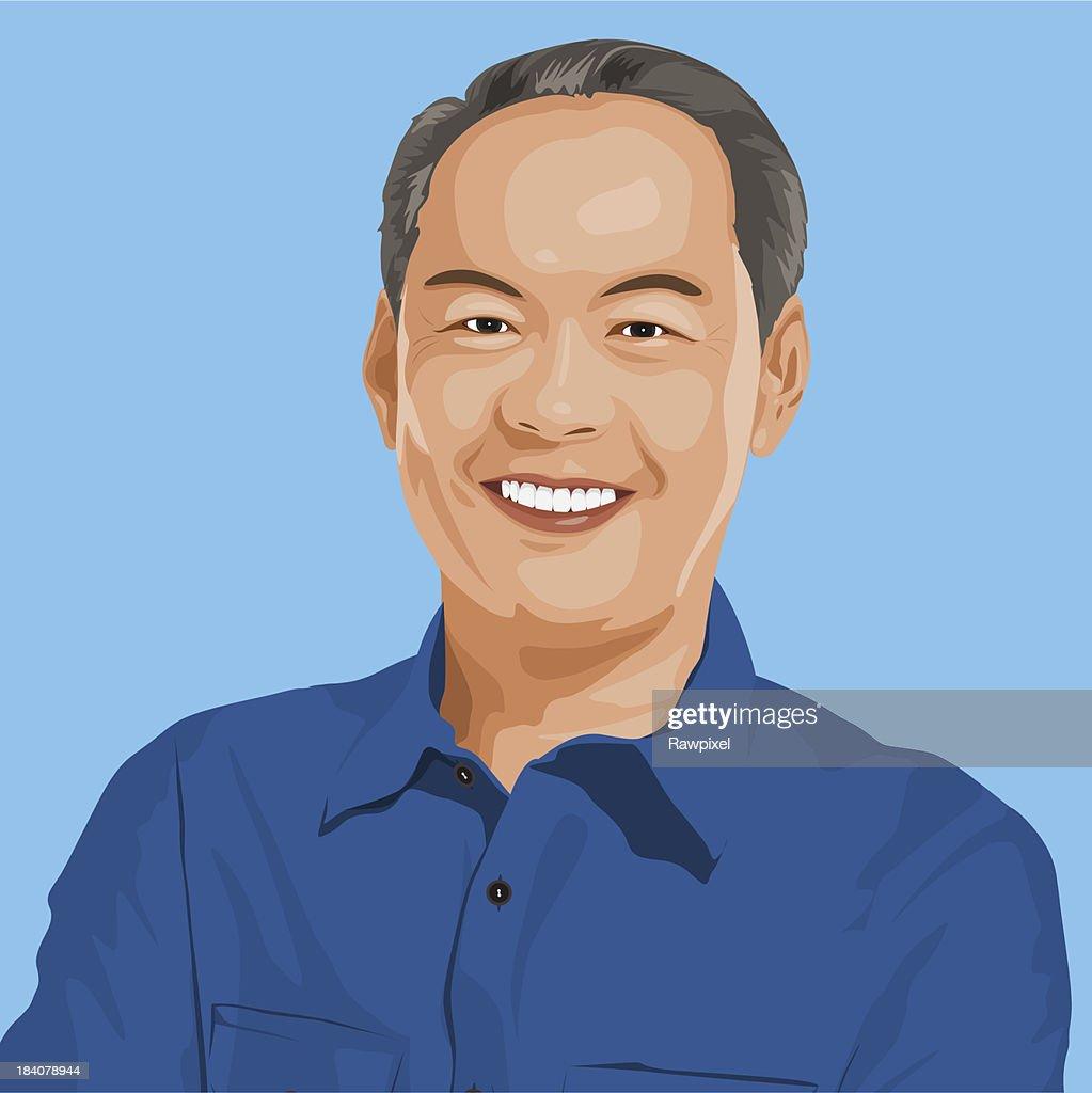 Portrait of Wise Man : Vector Art