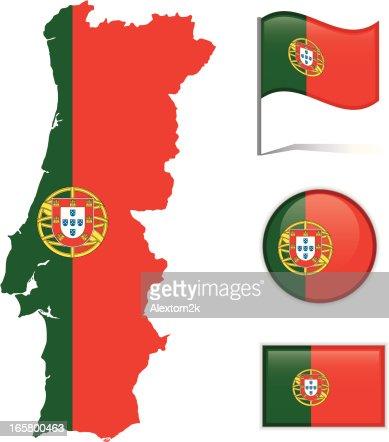 Senegal Map Flag Vector Art Getty Images - Portugal map flag