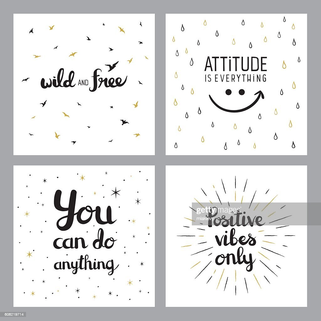 Positive Inspirational Quotes Positive Inspirational Quotes Vector Art  Getty Images