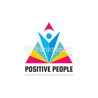 positive people concept business sign template vector illustration
