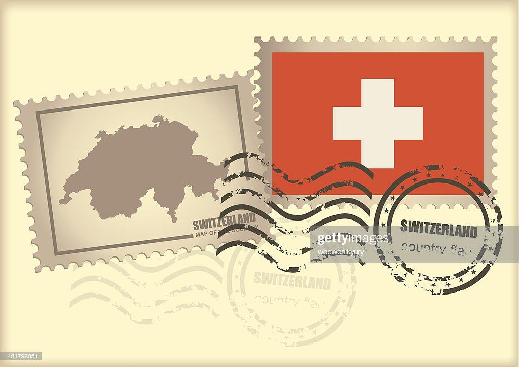 Postage Stamp Switzerland Vector Art | Getty Images
