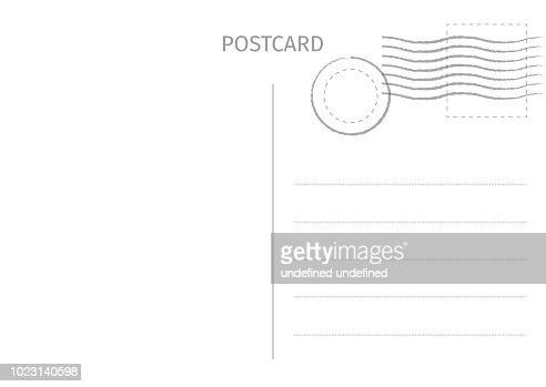 Carte postale. Illustration de carte postale pour la conception. Conception de cartes de voyage. Carte postale isolé sur fond blanc. Illustration vectorielle. : clipart vectoriel
