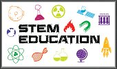 Poster design for stem education illustration