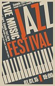 poster for the jazz festival with a keys of the piano