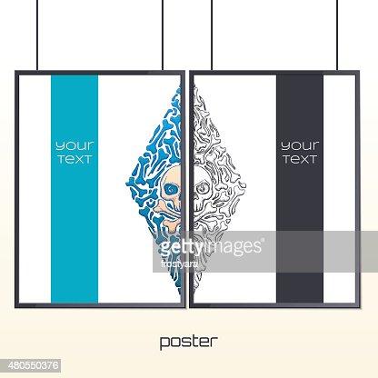 Um Poster no Frame : Arte vetorial