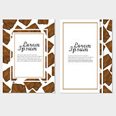 Poster vector template with chocolate. Advertising for menu of coffee shop or cafe.
