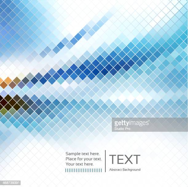 Poster Template with pixelated background