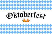 Poster to Oktoberfest festival. Oktoberfest 2018 handwritten lettering for greeting card