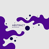 Poster with dynamic waves. Vector illustration in minimal flat style