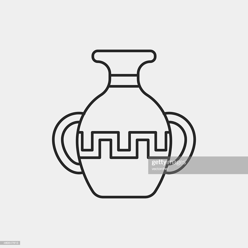 pottery Linie-icon : Vektorgrafik