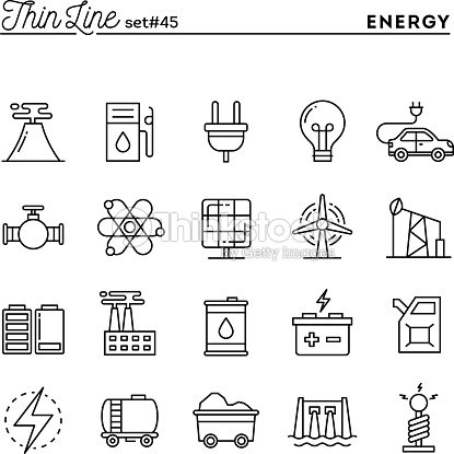 Power Energy Electricity Production And More Thin Line