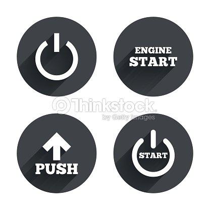 Power Symbole Start Motorsymbol Pushpfeil Vektorgrafik | Thinkstock