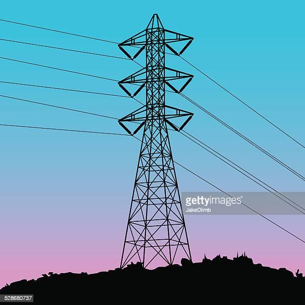 Power Line Silhouette