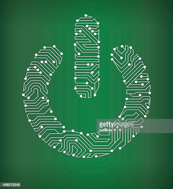 Power On Circuit Board royalty free vector art background