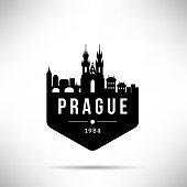 Prague City Modern Skyline Vector Template
