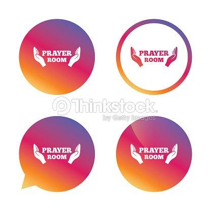 Prayer Room Sign Icon Religion Priest Symbol Vector Art Thinkstock