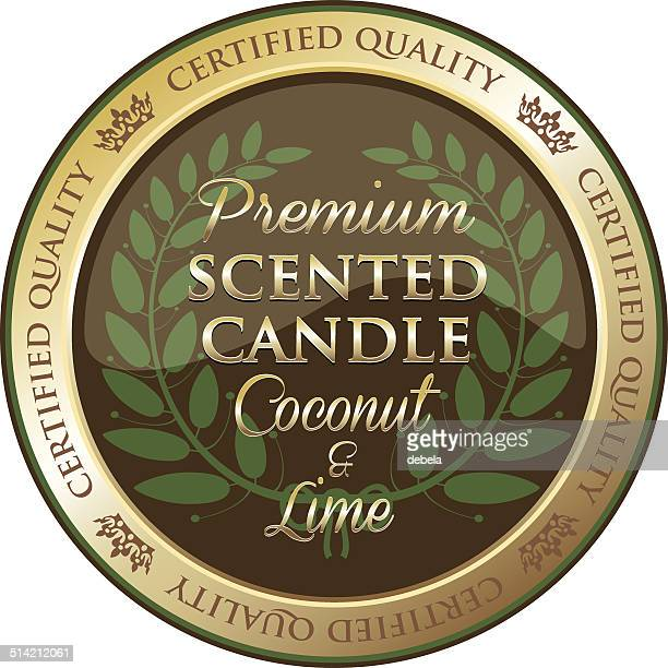 Premium Coconut And Lime Scented Candle
