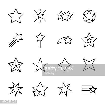 Premium set of star line icons. : stock vector