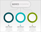Presentation business infographic template with 3 options. Vector illustration