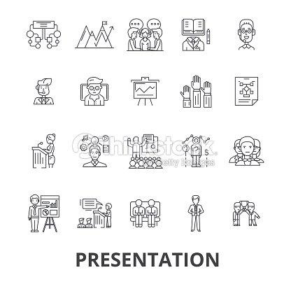 Präsentation Geschäft Moderator Tagung Konferenz Seminar ...