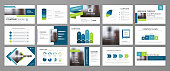 Blue abstract presentation slide templates. Infographic elements template  set for web, print, annual report brochure, business flyer leaflet marketing and advertising template. Vector Illustration