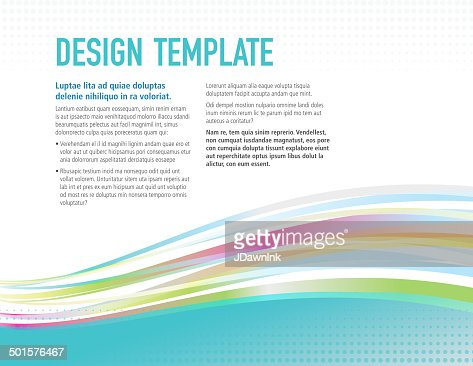 Presentation Horizontal Design Layout Template With Colorful ... Presentation Horizontal Design layout template with colorful sample flyer : Vector Art