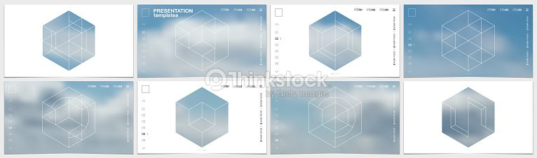 presentation template in hd format cover design with geometric