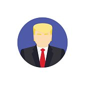 Presidential candidate Icon. Flat vector illustration. Usa election 2016 concept.