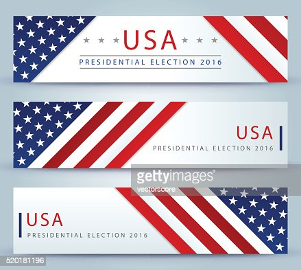 USA Presidential election banner background : stock vector