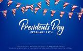 Presidents Day. Banner for USA Presidents Day Holiday.