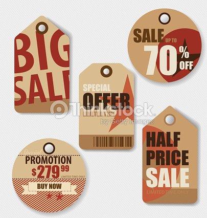 price tag sale coupon voucher vintage style template design vector