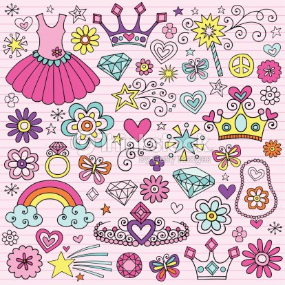 Princesse ordinateur portable doodle conception l ments - Ordinateur princesse ...