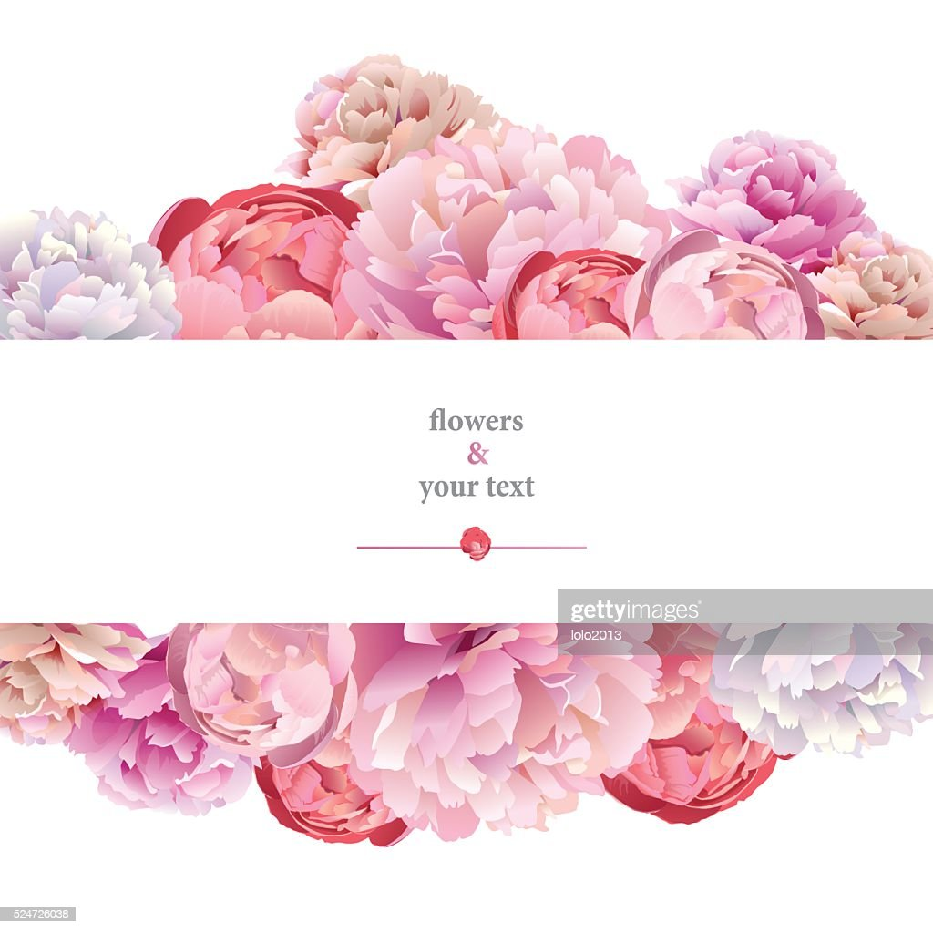 print with pink peony