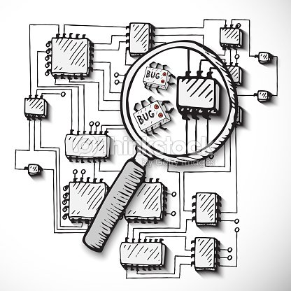 Enjoyable Printed Circuit Board Hand Drawn Stock Vector Thinkstock Wiring 101 Akebretraxxcnl
