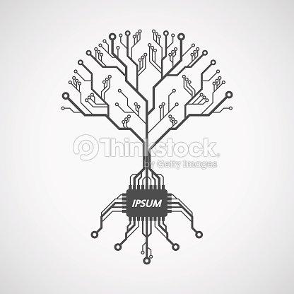 Printed Circuit Board Tree Vector Art | Thinkstock