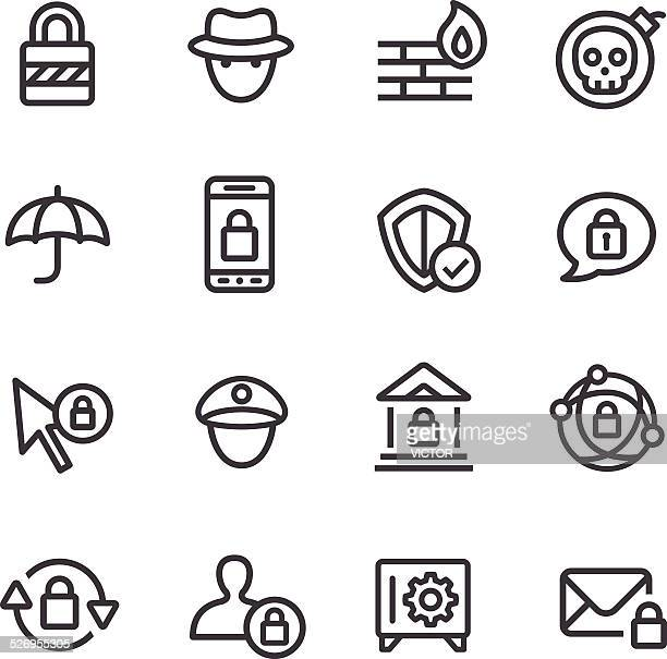 Privacy and Internet Security Icons - Line Series