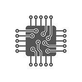 Processor Vector Icon. Microchip icon. CPU icon EPS 10