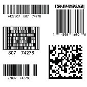 Product Barcode 2d Square Label. Sample  QR Code Ready to Scan with Smart Phone